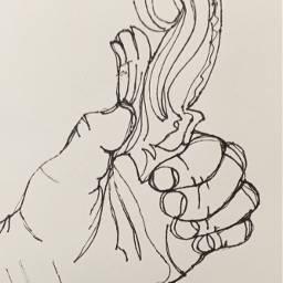 art handdrawn handdrawing realism oneline