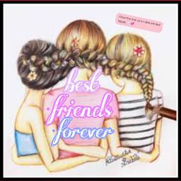 friends bestiesforlife neverapart freetoedit