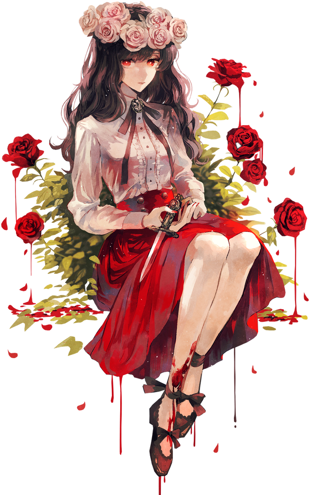 Rose Garden Anime: Roses Rose Flowers Blood Bloody Red Aesthetic Anime Ani