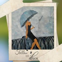 freetoedit girl umbrellagirl picture painting