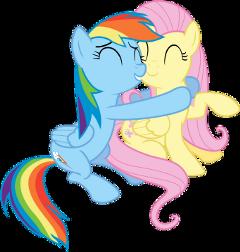 flutterdash fluttershy rainbowdash mylittlepony mlp freetoedit