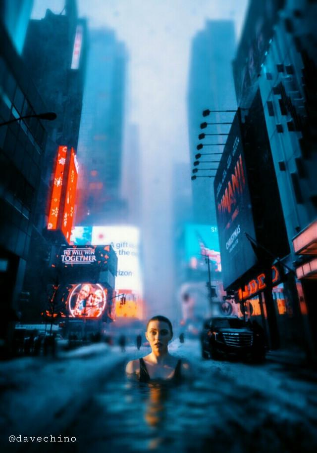 #downtown #citylights #girl #manipulation @freetoedit @picsart #conseptual #surreal #surrealist #surrealism #be_creative #myart  #myedit