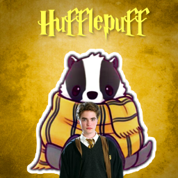 freetoedit yellow badger hufflepuff cedricdiggory