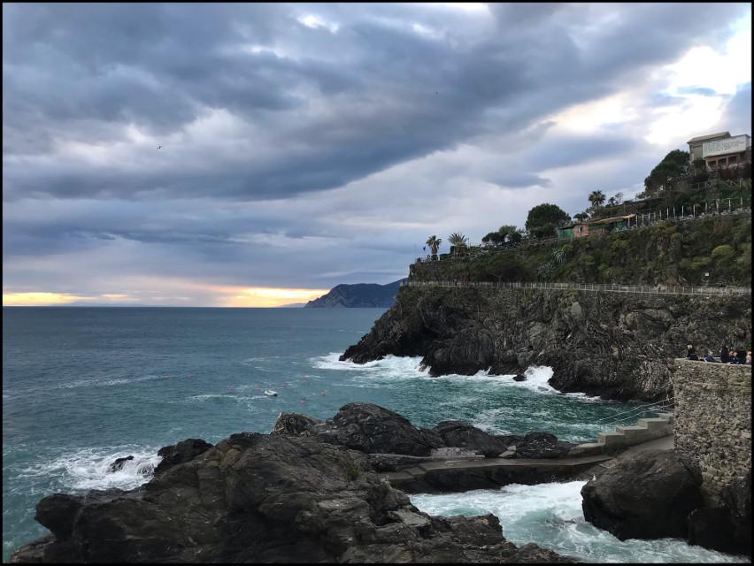 #freetoedit #sea #italy #liguria #love #sunset #thunderstrom #clouds