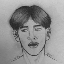 1ksugarcubesdrawingcontest taehyung drawing bts sketch