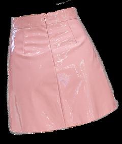 pink vinyl skirt miniskirt plastic freetoedit