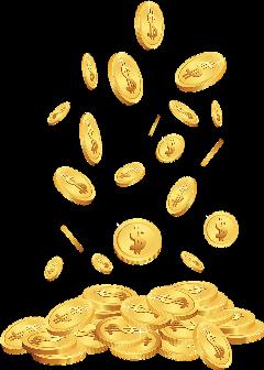 coins gold money cash colorful stickersfreetoedit freetoedit