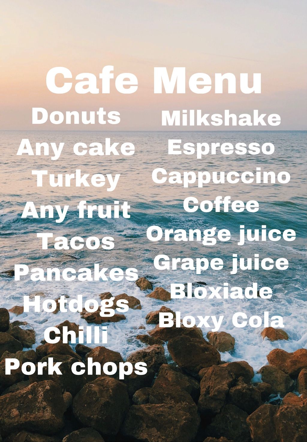 Bloxburg cafe menu - Image by Bloxburg things 💞