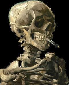 vangogh art skull vangoghart freetoedit