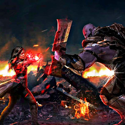 avengersendgame scarletwitch thanos endgame battle freetoedit
