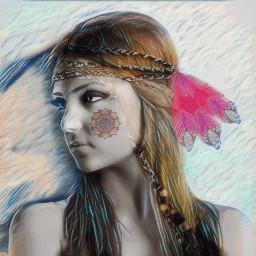 freetoedit tribal sparklemask glitter feathers