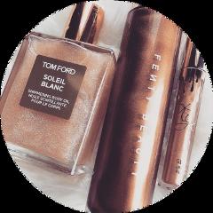makeup glam bronze sparkly background freetoedit