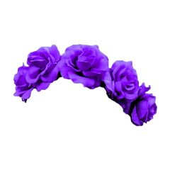 purple crown flower aesthetic tumblr freetoedit