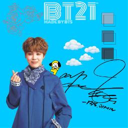 jimin 4th blue fingerhearteu signature