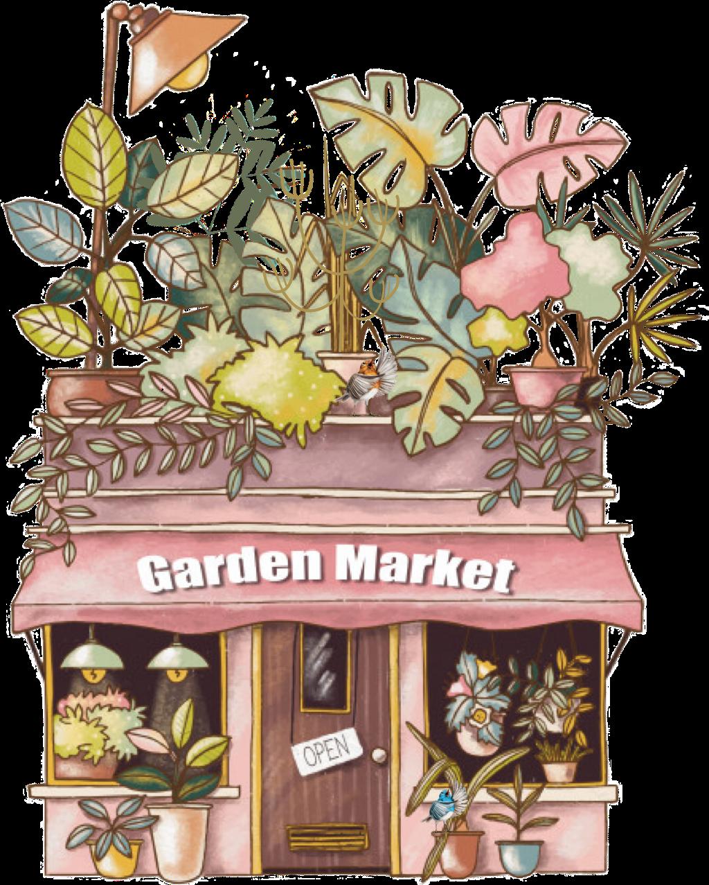 #garden #market #plants #birds #shop