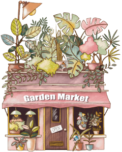 garden market plants birds shop