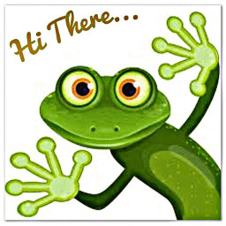 freetoedit frog hithere text greeting