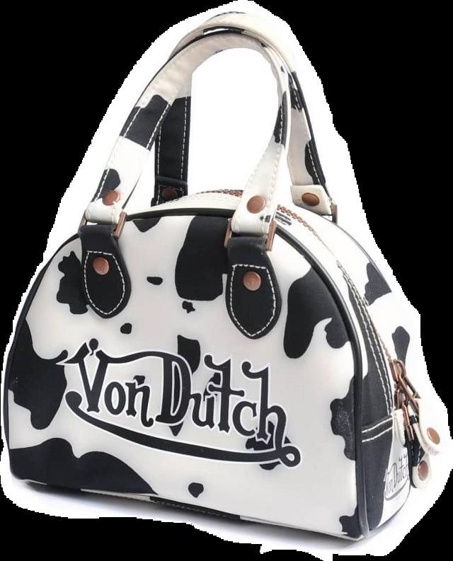 #vondutch #bag #purse #2000s #y2k #cow #cowprint