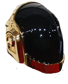 helmet gold daftpunk guymanuel freetoedit