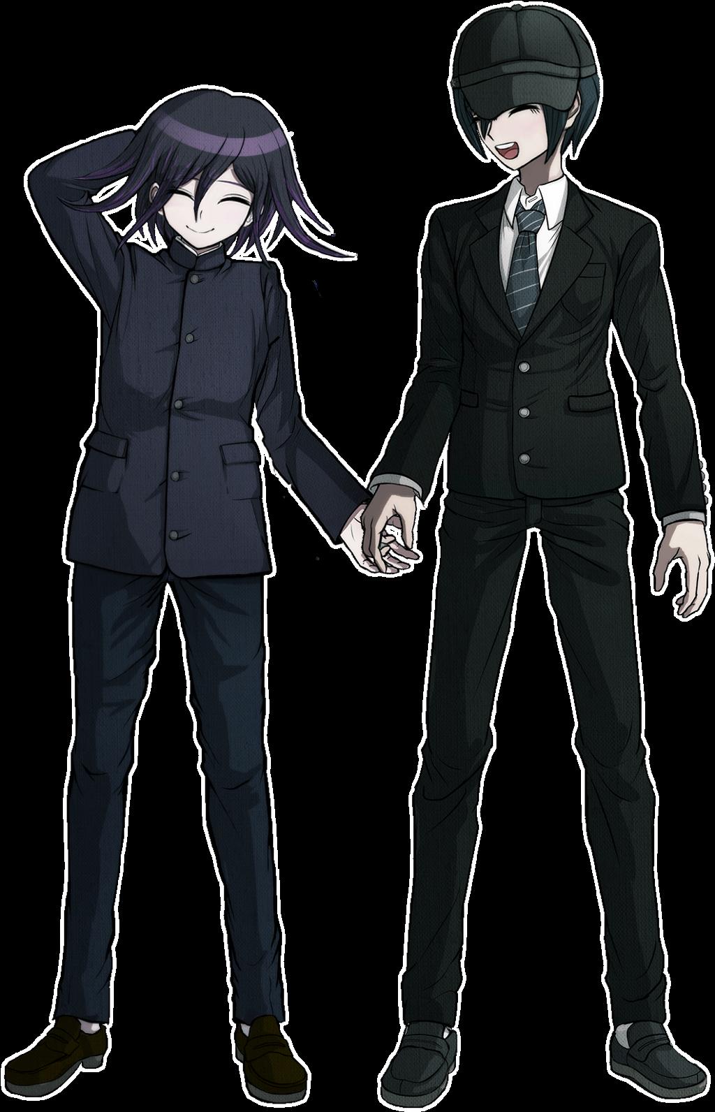 pregame shuichi and kokichi (Theres a white outline!