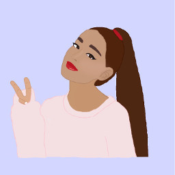 colorpaint draw ariannagrande ponytail pinklight