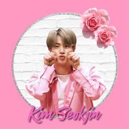 jin seokjin pink worldwidehandsome pinkprincessjin freetoedit