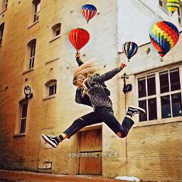 freetoedit girl airballoon airballoons srchotairballoons