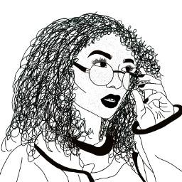 frackles curl girl sunglasses outline dcoutline freetoedit