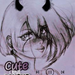 pyscho sweetbutpsycho cutebutpsycho anime animegirls freetoedit