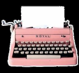 pink antique typewriter type writer freetoedit