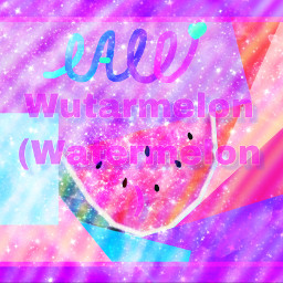 watermelon freetoedit picsart colerfull space