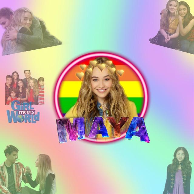 #freetoedit #MayaHart #DisneyChannel #GirlsMeetsWorld Maya är Riley?