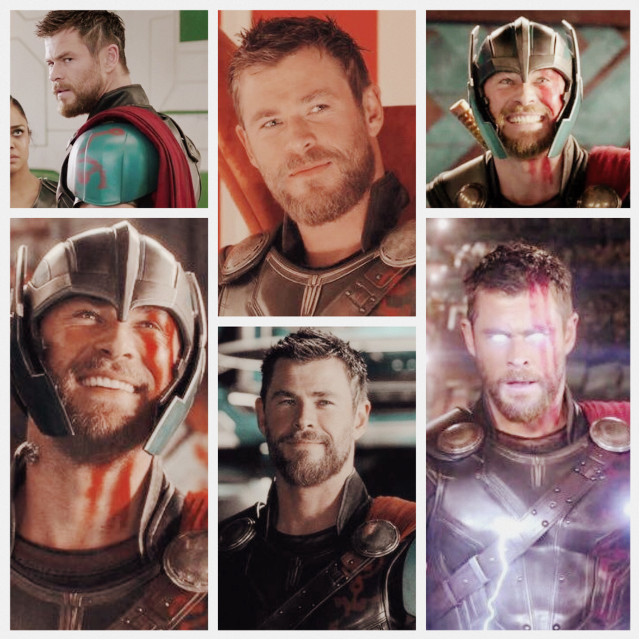 Hᴇ's ᴀ ғʀɪᴇɴᴅ ғʀᴏᴍ ᴡᴏʀᴋ! ⚡️  Here's a Thor:Ragnarok collage 😂😂 #thorragnarok #thor #marvel #collage #freetoedit