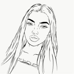freetoedit template outline nataliamandej girl