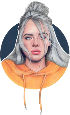 billie eilish edit freetoedit circle