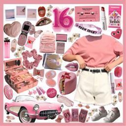 moodboard filler dress polyvore pink scrunchie freetoedit