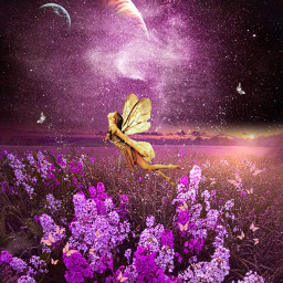 freetoedit fairy butterfly galaxy plants ircgalaxies