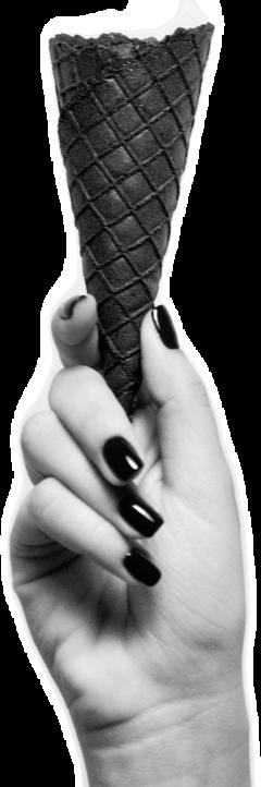 hand cone blackandwhite