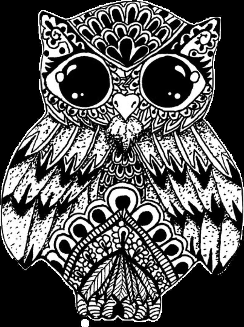 owl eule mandala ausmalen - stickermagicgirl632