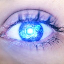freetoedit iseeyou eye jellyfish blue