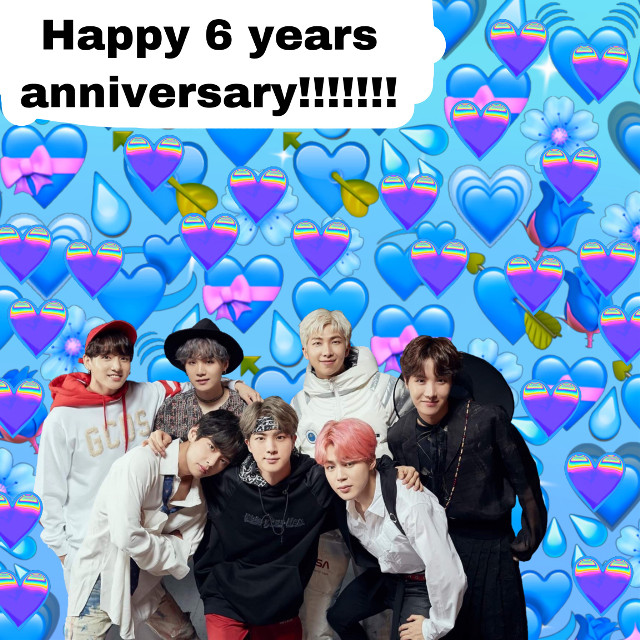 Happy 6 years anniversay to BTS! I have been ARMY for 9 months & i am soo blessed to have found them. They have done soo amazing & will continue to do so & they have worked soo hard to be where they are right now. I am soo proud of them. This year alone they have broken soo many records. I can't wait for whats next. Fighting! I love you BTS❤️❤️❤️❤️❤️❤️ #BTS #6yearswithbts #6yearsanniversay #Kpop #6yearswithourhomebts #Love #freetoedit