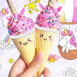 icecream unicorn freetoedit