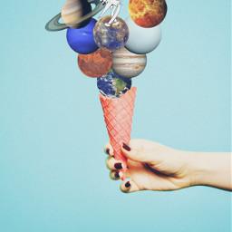 ecicecream icecream freetoedit solarsystem milkyway