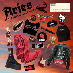 freetoedit aries red aesthetic thesigns
