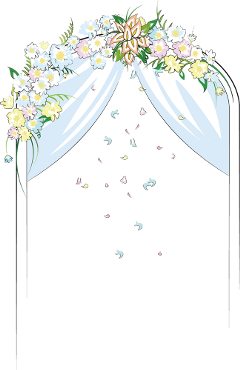 ftestickers clipart flowers arch wedding freetoedit