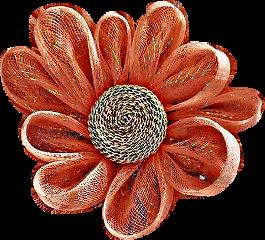 coral flower burlap craft freetoedit