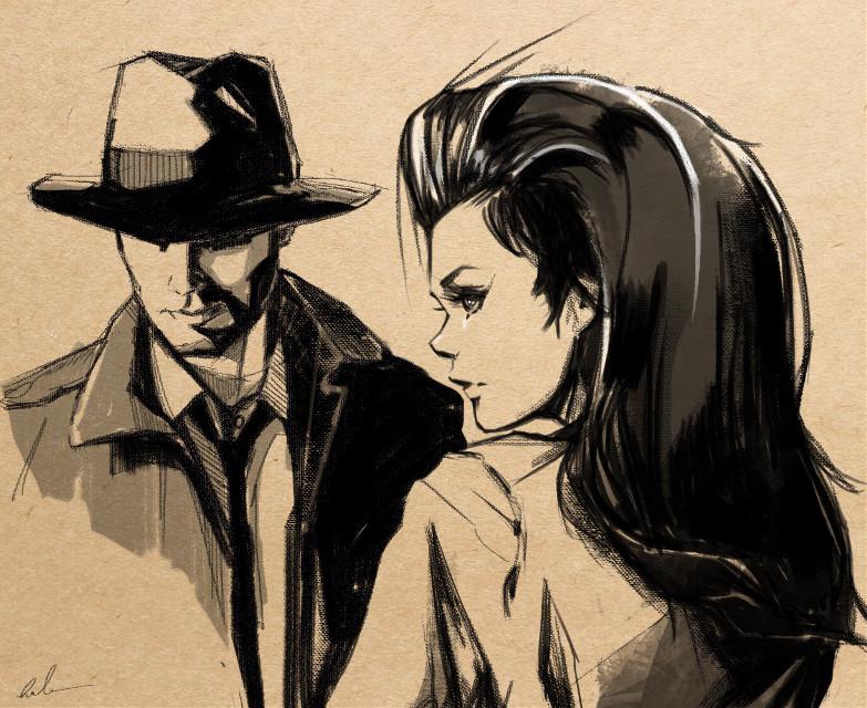 Noir comicart #punksy #artist #painter #illustrator #drawing #painting #noir #comicart #comic #comics