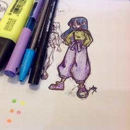 billieeilish doodle luluart traditionalart pen