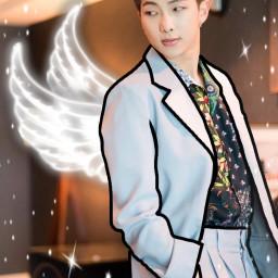 freetoedit kimnamjoon bts angel namjoon rm rapmonster