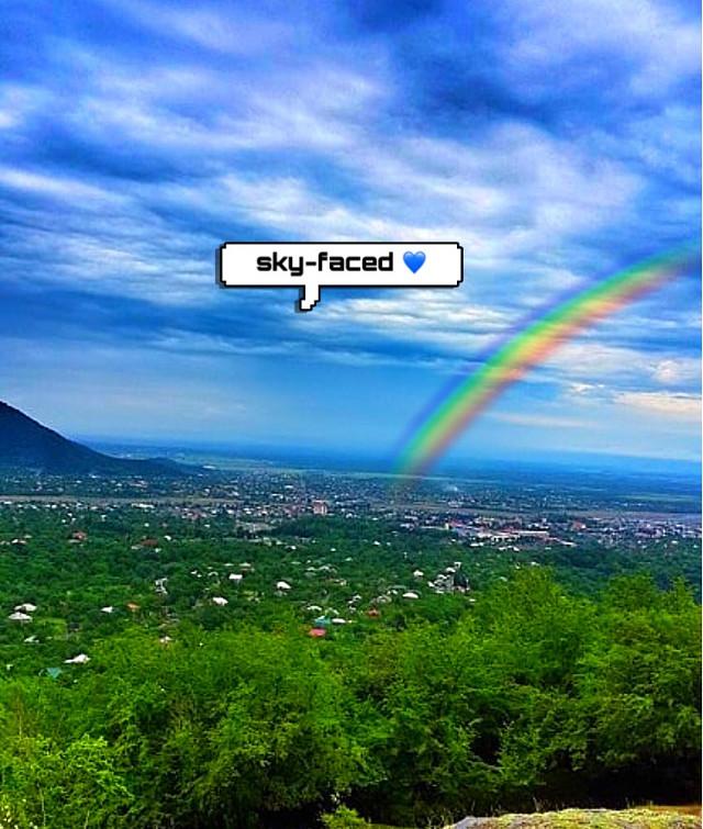 #freetoedit #rainbow #skyfaced